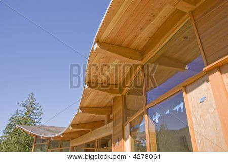 Timber Frame House Curved Roof Construction