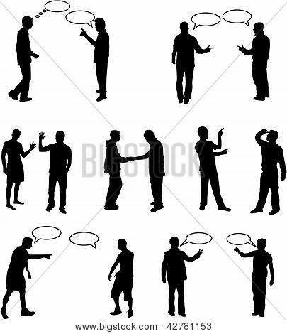 Diálogo pessoas - vectores de trabalho