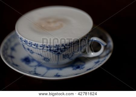 Frothy Cappuccino in Delicate Cup - 1