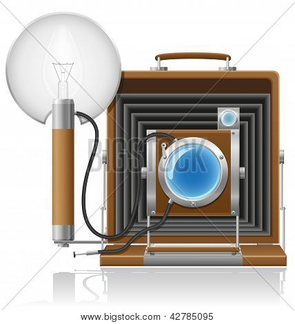 Old Camera Photo Vector Illustration