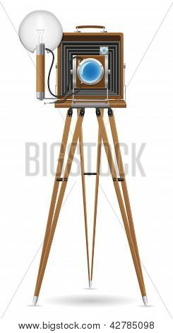 Old Camera Photo Vector Illustration