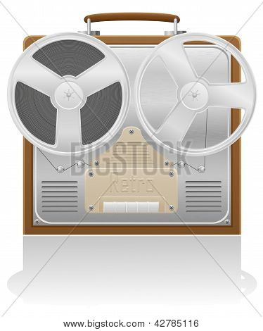 Old Recorder Vector Illustration
