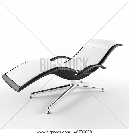 armchair on a white background 3D