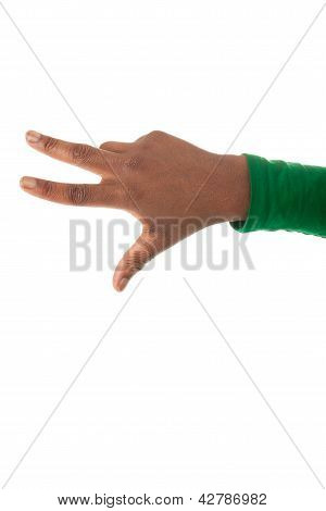Three Fingers Of A Black Hand