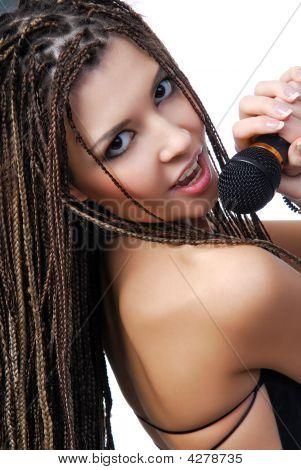 Face Of Pretty Singer Girl