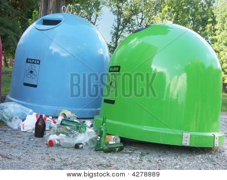 Two Waste Containers