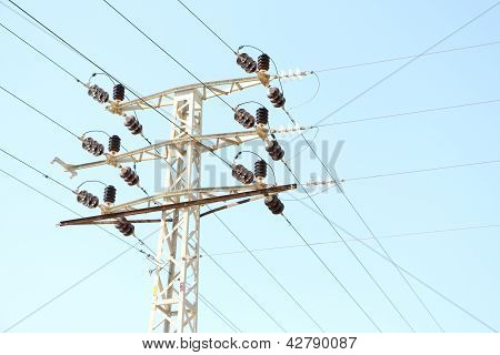 Electricity Pole And Cables