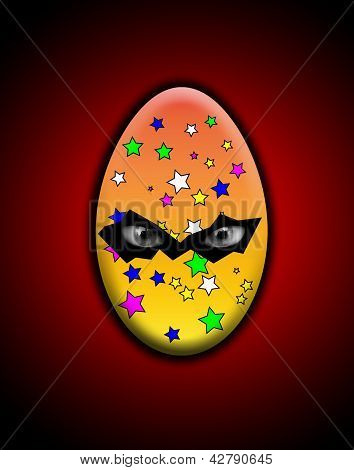 Sinister Easter Egg With Eyes