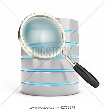 3D Database Searching With Magnifying Glass