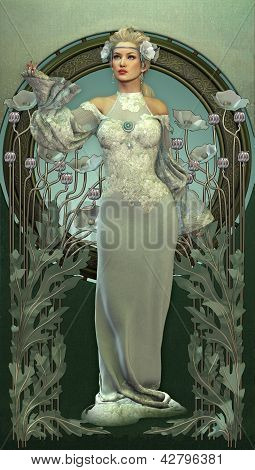 Victorian Beauty In White