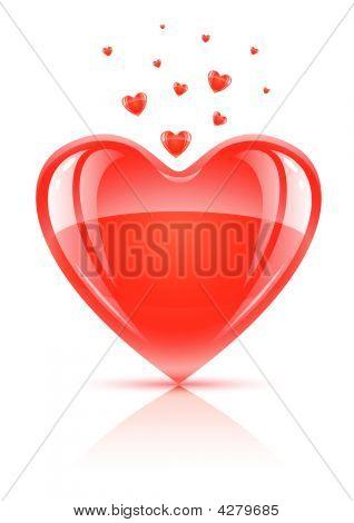 Símbolo vermelho dia dos Namorados - coração de amor
