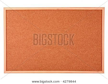 Wooden Cork Board Isolated