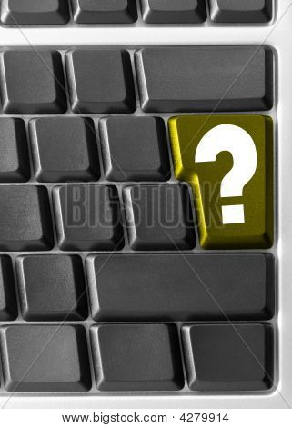 Computer Keyboard,  With Yellow