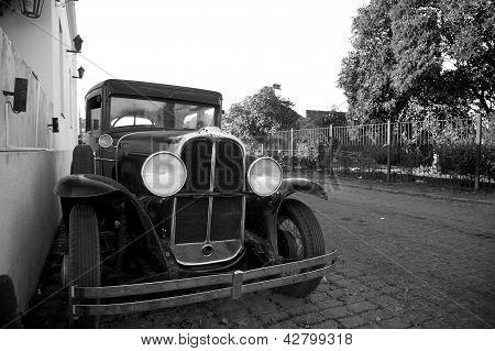 Antique Car In Colonia, Uruguay