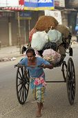 Hand Pulled Rickshaw In Calcutta