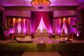stock photo of indian wedding  - Image of a mandap at an Indian wedding - JPG