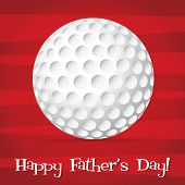 foto of dimples  - Bright golf ball Happy Father - JPG
