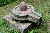 image of shiva  - Stone lingam in Hindu temples represents the sexual male creative energy of Shiva - JPG