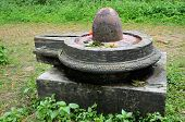 pic of lingam  - Stone lingam in Hindu temples represents the sexual male creative energy of Shiva - JPG