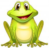 stock photo of webbed feet white  - Illustration of a smiling frog on a white background - JPG