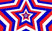 Endless Patriotic Star Pattern