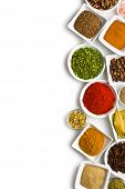 pic of cumin  - Various spices and herbs on white background - JPG