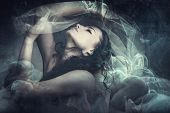 pic of fantasy  - fairy like fantasy woman with veil - JPG