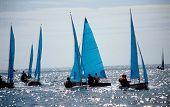 stock photo of sail-boats  - sailing cornwall - JPG