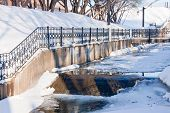 pic of perm  - channel in a winter park city Perm Russia - JPG