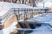 foto of perm  - channel in a winter park city Perm Russia - JPG