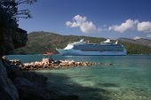 Cruise Ship At Destination poster