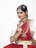 foto of bharatanatyam  - beautiful female traditional dancer from South India - JPG