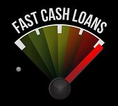 picture of over counter  - fast cash loans speedometer illustration design graphic over a dark background - JPG