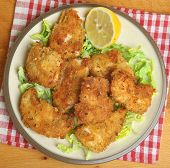 Italian chicken fillets fried in breadcrumbs, oregano and parmesan cheese.
