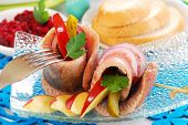 Spicy Herring Rolls With Apple And Gherkin For Easter poster