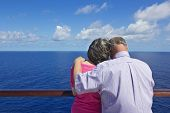 pic of cruise ship caribbean  - Senior Couple on a Cruise Vacation - JPG