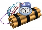 stock photo of time-bomb  - Isolated illustration of a time bomb primed and ready for action - JPG