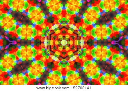 Bright Color Background With Abstract Pattern