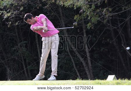 Nicolas Tacher at the golf Masters 13, 2013