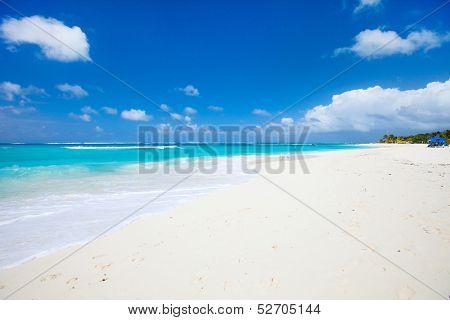 Beautiful beach on Anguilla island, Caribbean