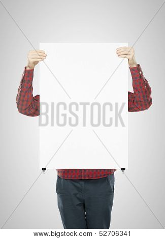 Man Holding Paper