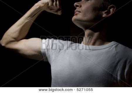 Dramatic Pose Of Man In Power Position