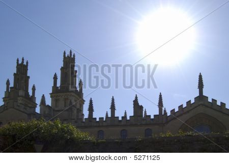 Spires On Oxford Colleges. England