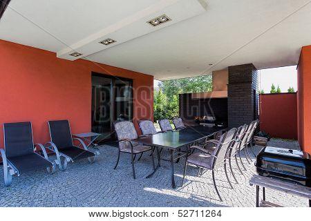Terrace In Spacious Villa