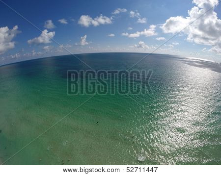 Aerial photo of the ocean
