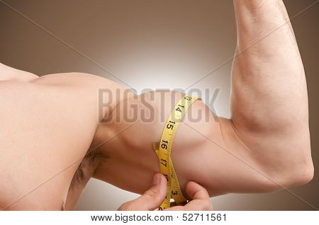 Measuring His Bicep