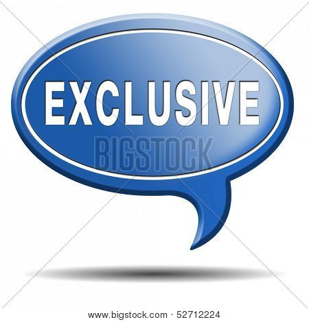exclusive offer edition or VIP treatment rare high quality product with limited production icon button or exclusivity sign