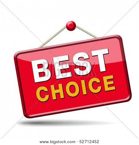 top choice best product quality guarantee label comparison button with text and word concept