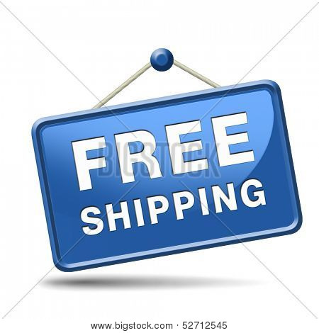 free shipping or delivery order web shop shipment for online shopping at internet webshop ecommerce button