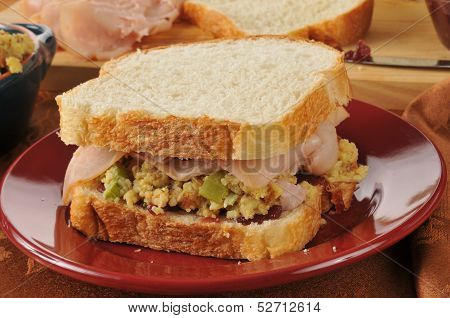 Turkey Sandwich On Homemade Bread